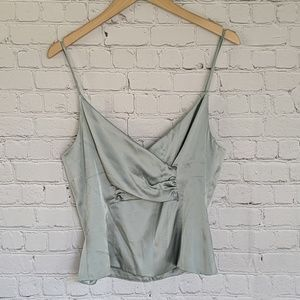 ST. JOHN EVENING | Mint Green Silk Cami Top 8